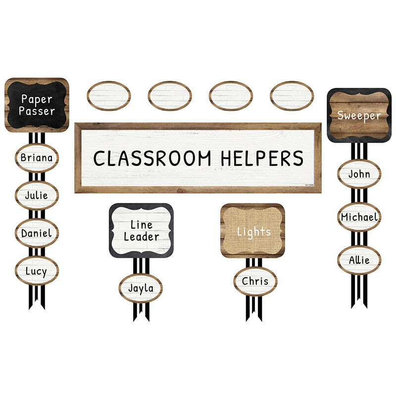 Carson Dellosa - Industrial Chic Job Assign Mini Bulletin Board Set - 47 Pieces 1