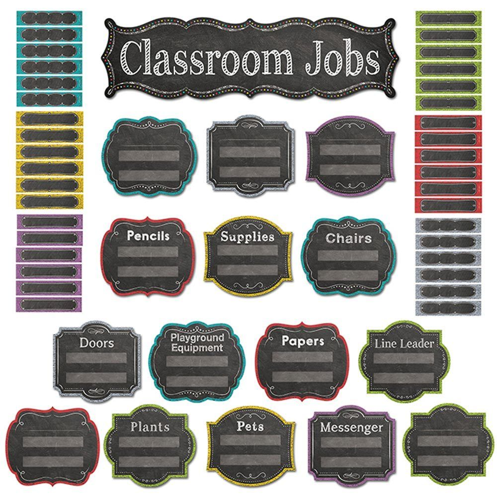 Chalk It Up! Classroom Jobs Mini Bulletin Board Creative Teaching Press CTP6969 1