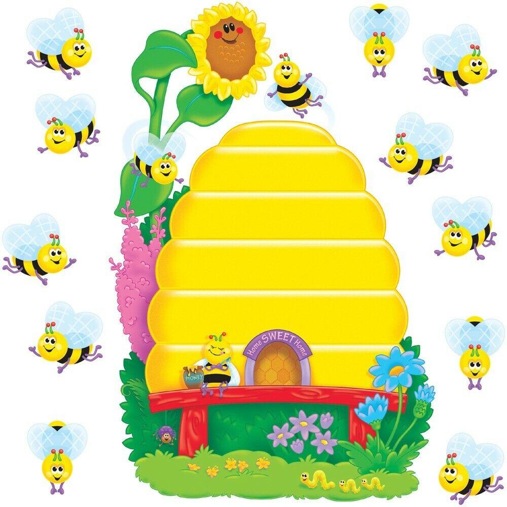 Trend Busy Bees Job Chart Bulletin Board Set - 36 (Bee, Beehive) Shape - 1