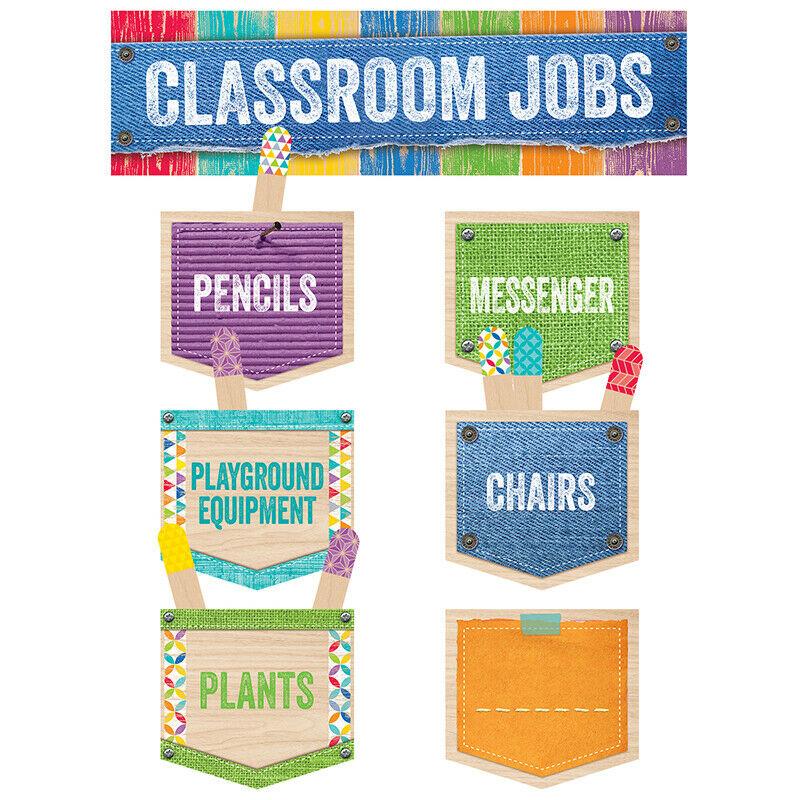 Creative Teaching Press - Classroom Jobs Mini Bulletin Board Set Upcycle Style 1