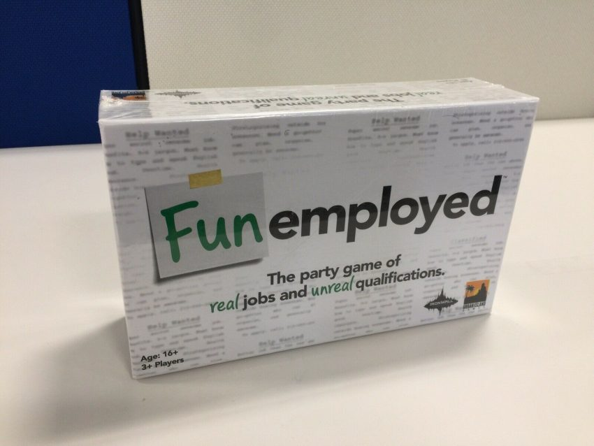 Funemployed, the party Board Game of real jobs and unreal qualifications New 1